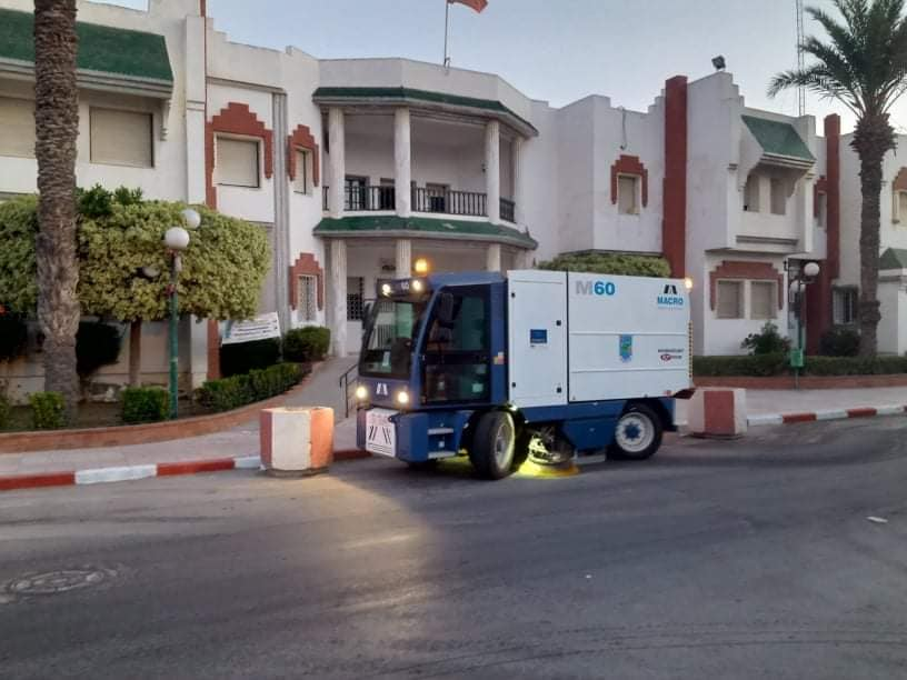This is the cleaning of the municipality of Jemmel at dawn today, Friday August 7, 2020